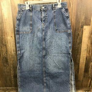 Luck Brand Full Length Denim Skirt 14/32
